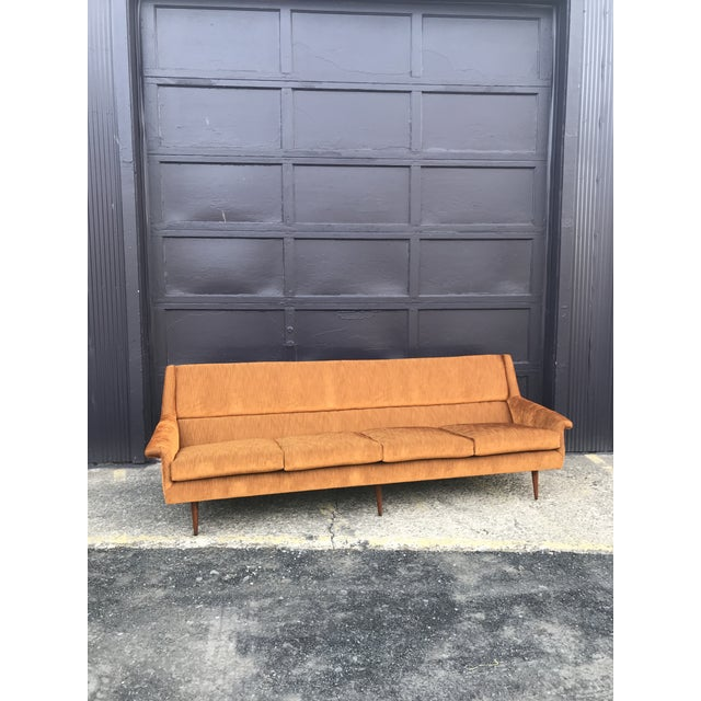 Reupholstered! Early Milo Baughman Thayer Coggin Four Seat Sofa For Sale - Image 13 of 13