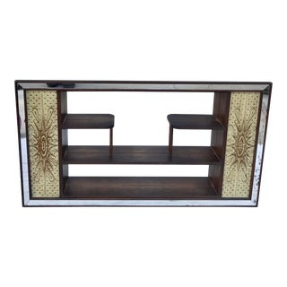 1950s Mid Century Atomic Mirrored Shadow Box Wall Cabinet For Sale