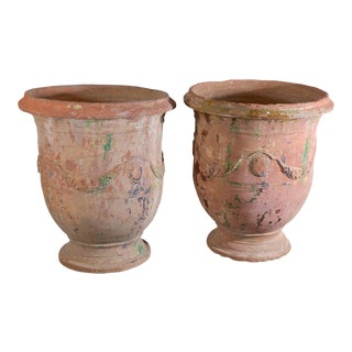 Pair of Large 18th Century Anduze Jars For Sale