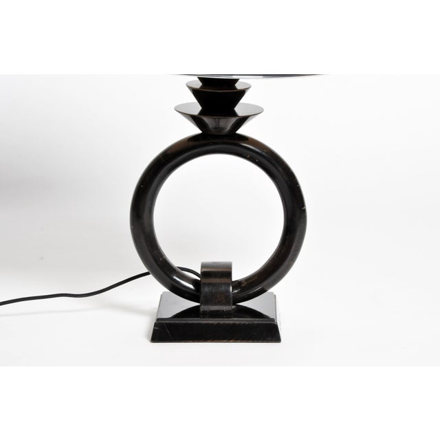 Pair of Mid-Century Lamps with Black Lacquer - Image 7 of 8