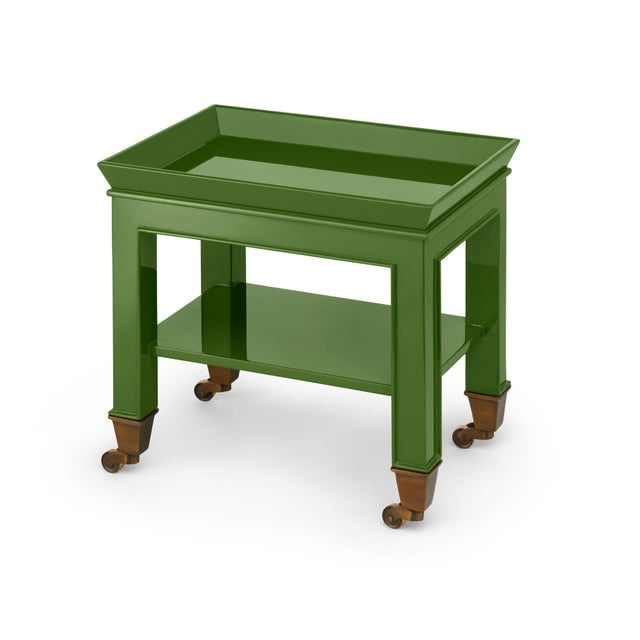 Contemporary Miles Redd Collection Telephone Table in Lettuce Green For Sale - Image 3 of 3