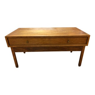 Mid-Century Modern One-Drawer Wood Coffee Table For Sale