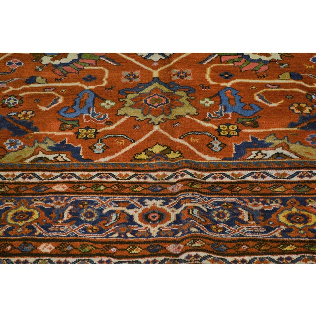 "Vintage Persian Mahal Rug - 7' x 10'4"" For Sale - Image 5 of 8"