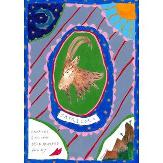 """""""Capricorn"""" Contemporary Horoscope A4 Giclée Print For Sale"""