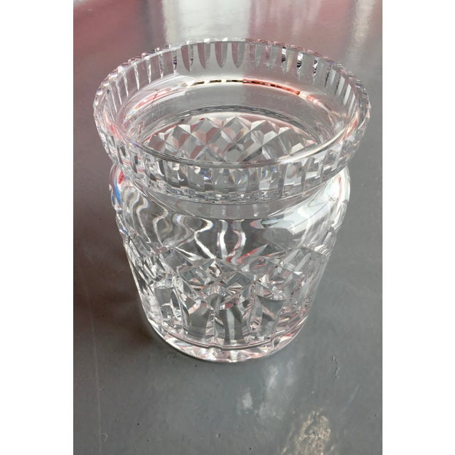 This iconic Waterford Crystal piece is multi-functional. It is blown glass in Ireland. Although listed as a Biscuit...