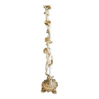 Antique Italian Rococo Venetian Carved Gilt Column For Sale