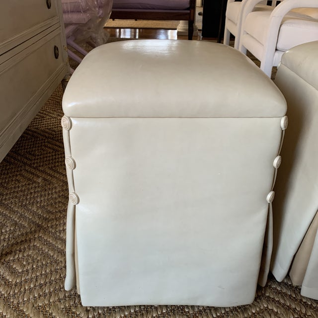 Contemporary J. Robert Scott Lamb Skin Ottomans-A Pair For Sale - Image 3 of 11