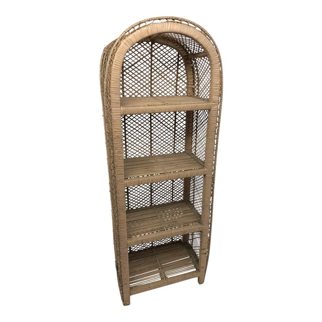 cheap for discount b946a 74055 Vintage Shabby Chic Rose Pink Wicker Bookcase