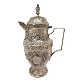 French Silver Chocolate Pot Circa 1750 For Sale