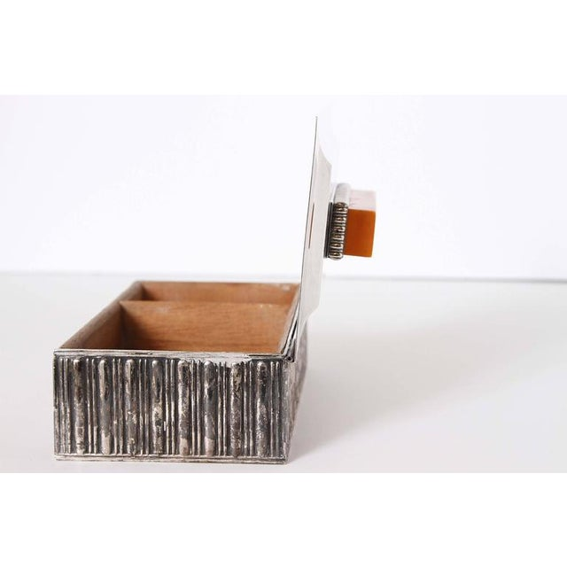 "Art Deco Barbour Silver Co ""Special Line"" Modernist Box by Albert Feinauer 1929 For Sale - Image 9 of 11"