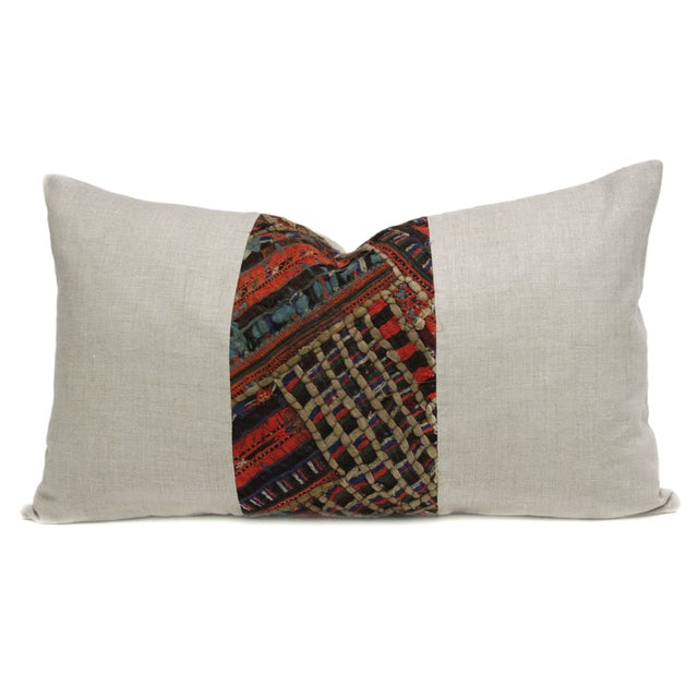 Takhia Embroidered Lumbar Pillow For Sale