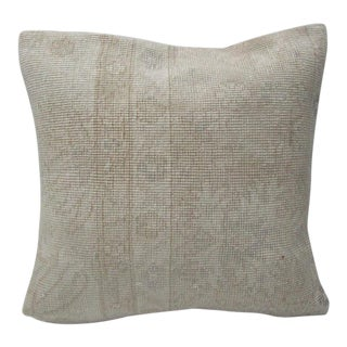 Turkish Faded Vintage Beige & Cream Pillow Cover For Sale