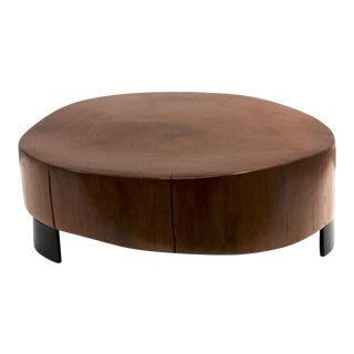 Peroba Woodblock Coffee Table For Sale