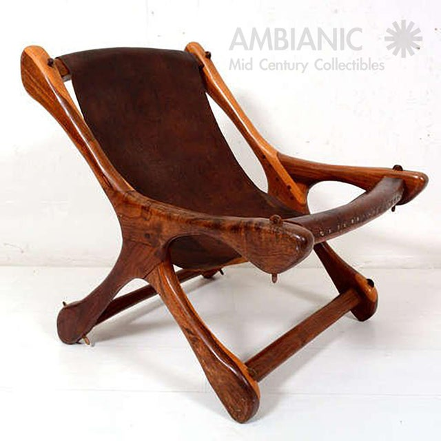 Mid-Century Modern Sling Chair Attributed to Don Shoemaker For Sale - Image 3 of 11