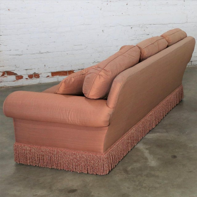 Baker Furniture Company Baker Sofa Lawson Style From the Crown and Tulip Collection Terracotta For Sale - Image 4 of 13
