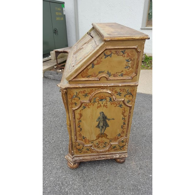 French Distressed Painted Secretary Desk - Image 9 of 11