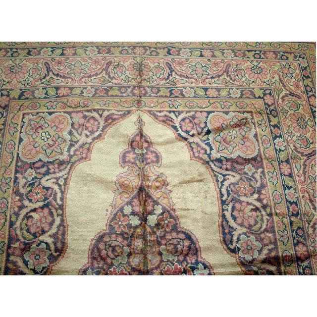 1930s Vintage Tabriz Haji Jalili Design Rug - 6′7″ × 7′5″ For Sale - Image 4 of 6