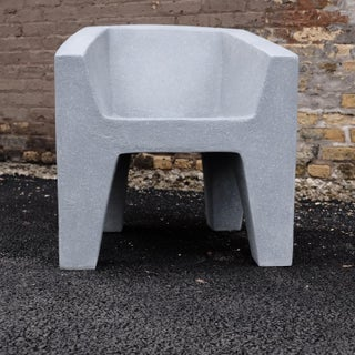 Cast Resin 'Van Eyke' Club Chair, Gray Stone Finish by Zachary A. Design Preview
