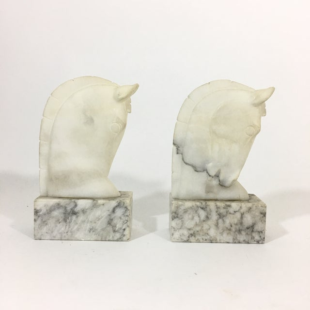 Marble Trojan Horse Head Bookends For Sale - Image 4 of 9