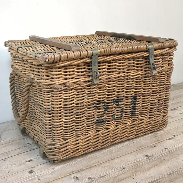 Antique Wicker Basket For Sale - Image 13 of 13