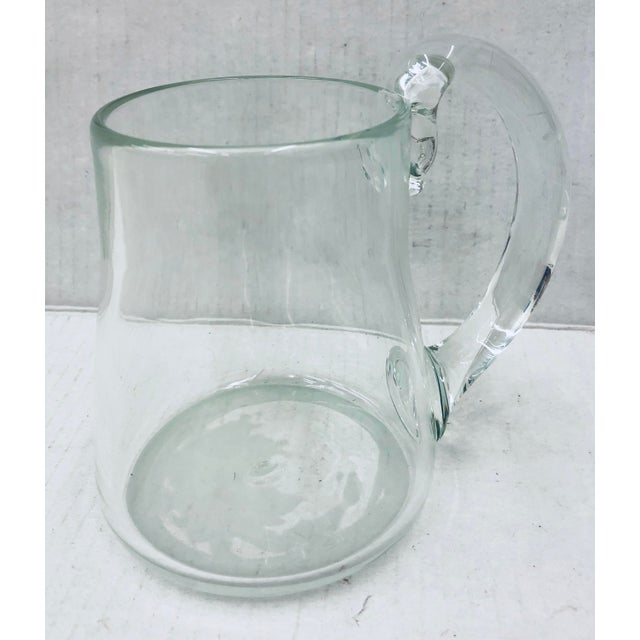 Handblown Glass Pitcher For Sale - Image 11 of 11