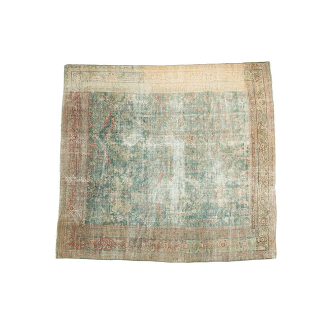 "Antique Mahal Square Carpet - 9'10"" x 10'9"" For Sale"
