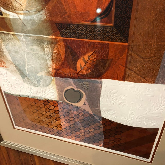 Original Sunol Alvar Embossed Artist Proof Signed Lithograph Framed With Museum Glass For Sale In Seattle - Image 6 of 12