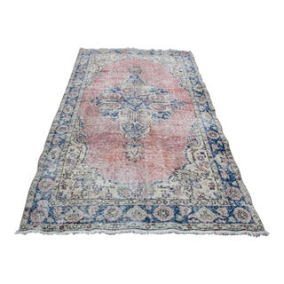 1970s Vintage Turkish Hand-Knotted Rug - 3′7″ × 6′7″ For Sale