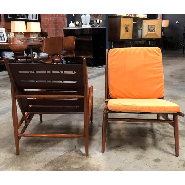 Italian Pair of ISA Italian Club Chairs For Sale - Image 3 of 10