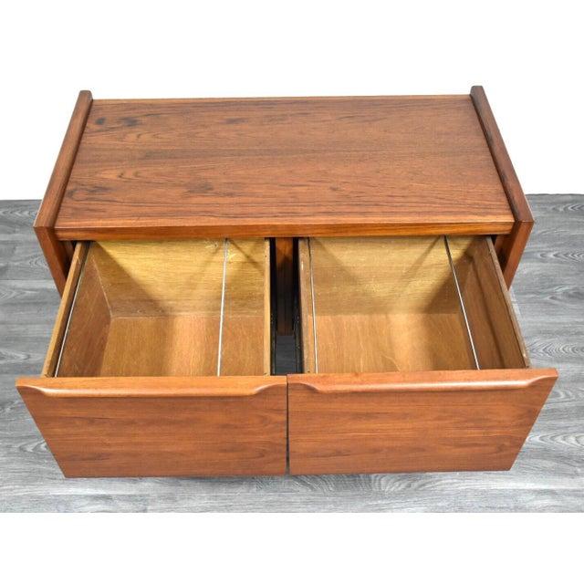 Danish Teak MCM Filing Cabinet For Sale In Boston - Image 6 of 11