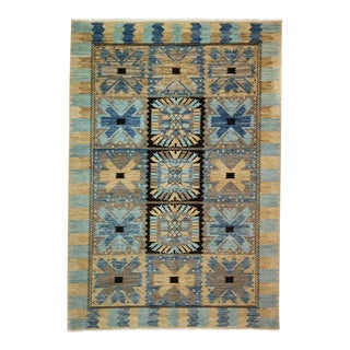 One-Of-A-Kind Patterned & Floral Handmade Area Rug - 6 X 9 For Sale