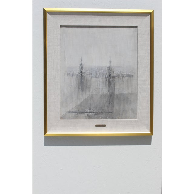 Italian Modernist Painting by Cesare Peverelli For Sale - Image 9 of 9