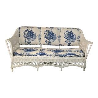 Vintage Wicker Sofa For Sale