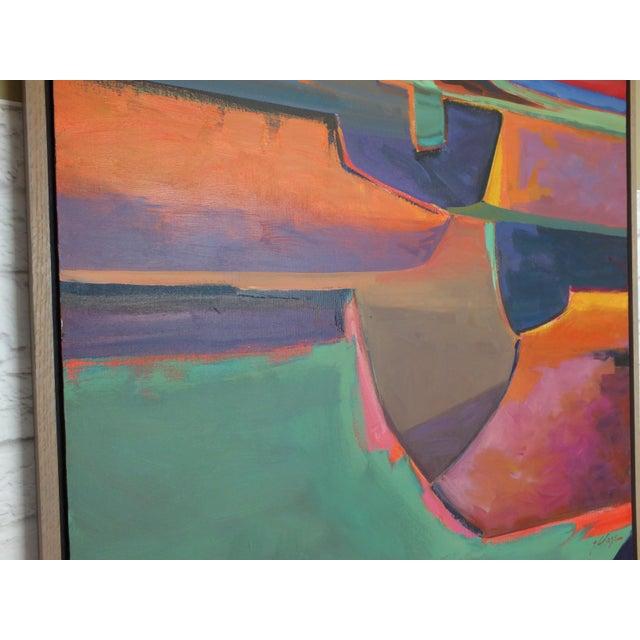 "Orange Abstract Southwestern Landscape ""Twilight"", Jamie Chase For Sale - Image 8 of 10"