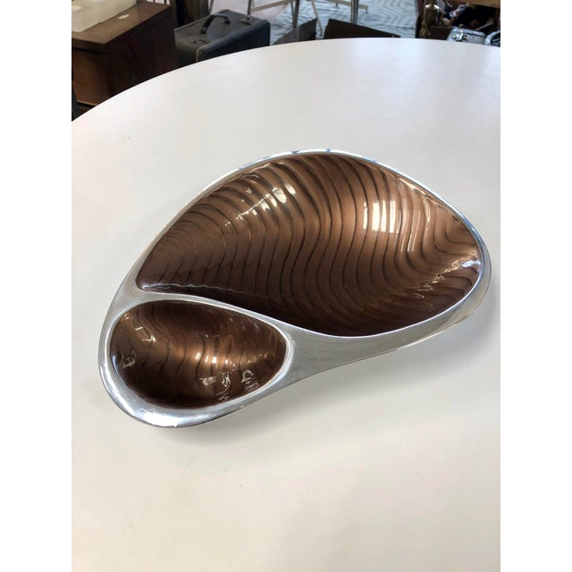 Brown Nombré Contemporary Pewter Serving Dish For Sale - Image 8 of 8