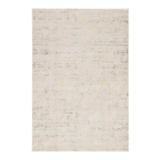 """Jaipur Living Arvo Abstract Silver White Area Rug 8'10""""X11'9"""" For Sale"""