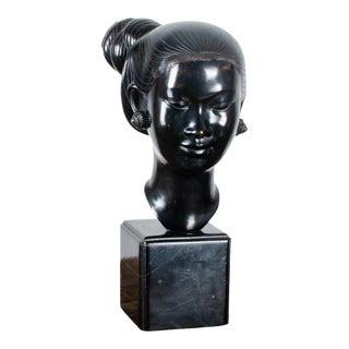 Nguyen Thanh Le Vietnamese Woman in Bronze Sculpture C.1950 For Sale