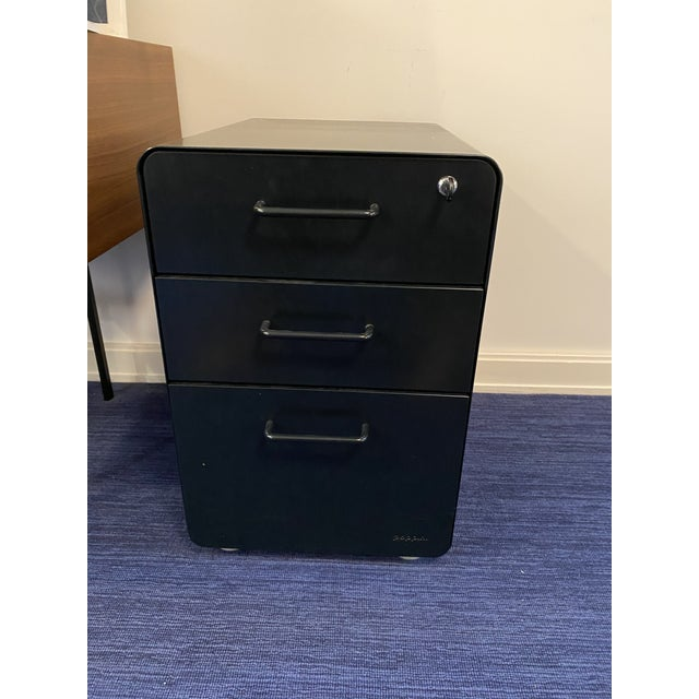 Contemporary Poppin Black File Cabinet For Sale - Image 3 of 3