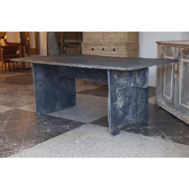 Long Slate Center Table For Sale - Image 9 of 10