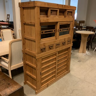 Antique Japanese Wood Cabinet Preview