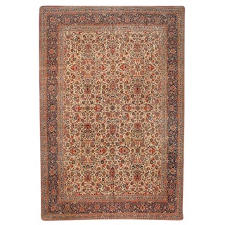 Exceptional Antique Dabir Kashan Carpet For Sale
