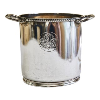 Vintage Stanford Court Hotel, San Francisco Silver Plate Champagne Bucket For Sale