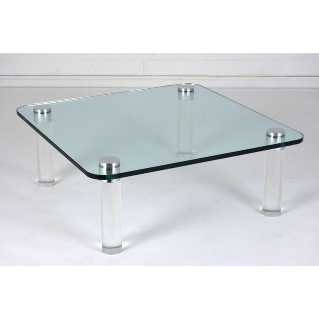 Mid-Century Modern Mid-Century Modern-style Lucite Coffee Table For Sale - Image 3 of 7