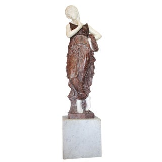 Life Size Hand Carved Marble Statue For Sale