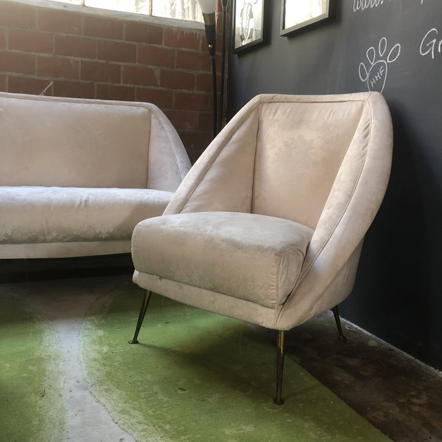 1950s Guglielmo Veronesi Settee With Two Lounge Chairs For Sale - Image 5 of 10