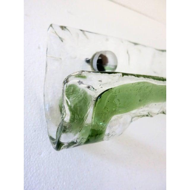 Green Italian Murano Glass Bathroom Set by Mazzega For Sale - Image 8 of 13