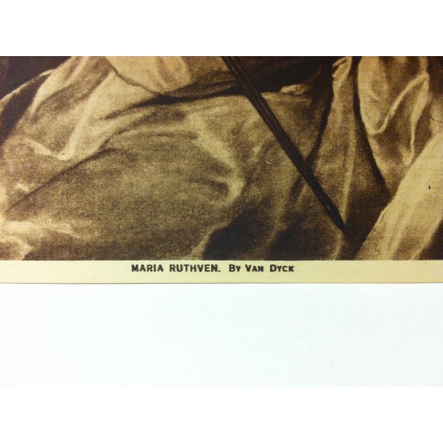 """Figurative Circa 1915 """"Maria Ruthven"""" the Mentor Association Print For Sale - Image 3 of 4"""