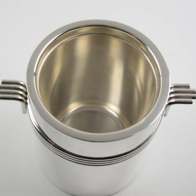 Christian Dior Christian Dior Mid-Century Modern Silver Plate Ice Bucket For Sale - Image 4 of 6