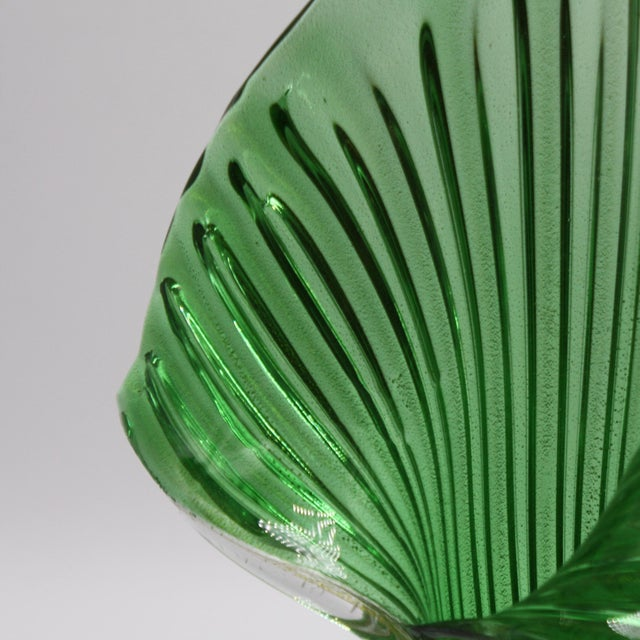 Archimede Seguso Jack-In-The-Pulpit Vase With 24k Gold Inclusions, C. 1950 For Sale In Dallas - Image 6 of 8
