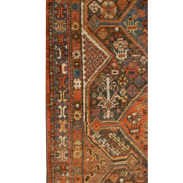 """19th Century Qashqai Runner - 39"""" x 175"""" For Sale - Image 4 of 5"""